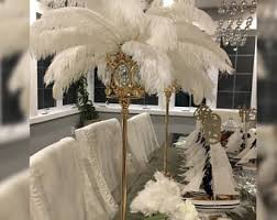 feather centerpiece etsy