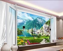 3d murals custom 3d wallpaper murals window scenery 3d room wallpaper