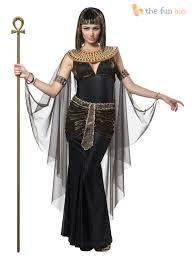 ladies black queen cleopatra egyptian halloween fancy dress