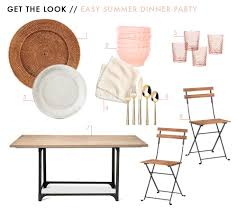hosting an easy summer dinner party emily henderson