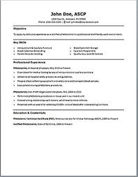 Resume 10 Key by Very Attractive Phlebotomist Resume 10 Phlebotomy Includes Skills