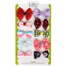 baby hair ties bundle 10 pc baby bow ribbon elastic band hair tie