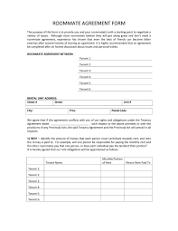 Reference Template For Landlord 40 Free Roommate Agreement Templates U0026 Forms Word Pdf