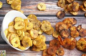 healthy baked plantain chips four ways this mama cooks on a diet