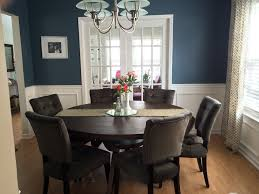 Blue Dining Room by Dining Room Wainscoting