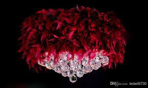 feather chandelier discount 55cm modern k9 lustre chandelier light fixture