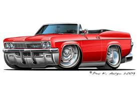 cartoon convertible car impala convertible