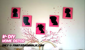 pink fashion k diy wall silhouettes home décor