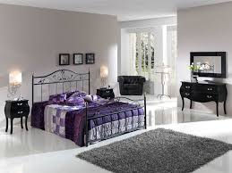 modern wrought iron bed frame decor with cubical shaded table