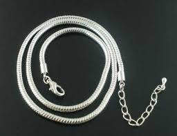 chain necklace style images Pandora style snake chain necklace 17 plus ext chain deborah beads jpg