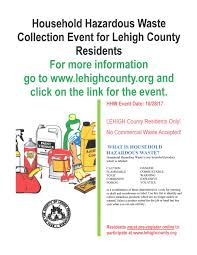 household hazardous waste collection event heidelberg township