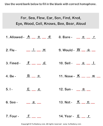 all worksheets homophone worksheets printable worksheets guide