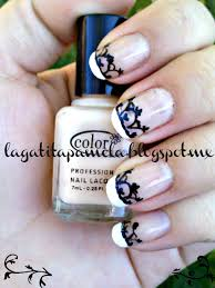 gatita u0027s nail art french manicure with hand painted lace nails