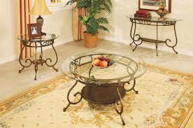 Glass End Tables For Living Room Coffee Table And Matching Console And End Table Glass Top Round