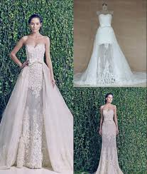 two wedding dresses zuhair murad two wedding dress with detachable real