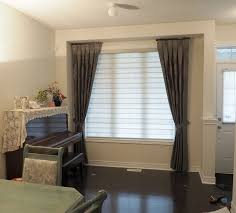 Side Panel Curtains Blind And Curtain Combinations Trendy Blinds
