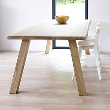 Oak Dining Table Uk Scandinavian Design Solid Oak Table Funique Co Uk