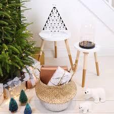personalised wooden christmas tree advent calendar by lisa angel