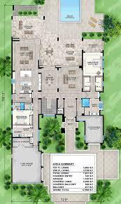 florida mediterranean modern house plan 52929 modern house plans