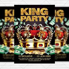 king party u2013 premium flyer template facebook cover