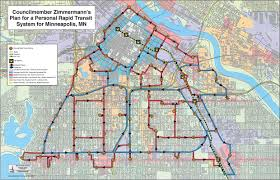 Light Rail Map Minneapolis Downtown Minneapolis Personal Rapid Transit Network Concept