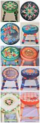 25 best painted stools ideas on pinterest hand painted stools