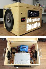 make your own boombox 12v led boombox and speakers