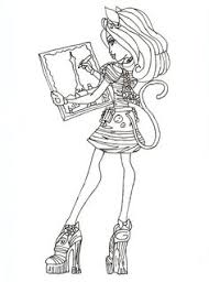 free printable monster coloring pages ghoulia lagoona