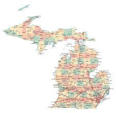 Michigan River Map by Large Map Of Michigan Michigan Map