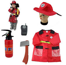 boys halloween costumes fireman sets cosplay stage wear clothing