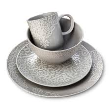 tilla stoneware dinnerware collection gray threshold target