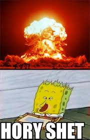 Explosion Meme - spongebob reaction to nuclear explosion by jasonpictures on deviantart