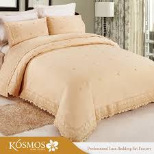 4pcs wholesale king bedding poly cotton lace duvet cover set for