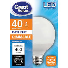 great value led light bulb 4w 40w equivalent dimmable