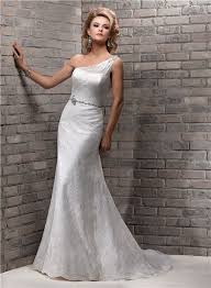 one shoulder lace bridesmaid dresses sheath one shoulder lace wedding dress with swarovski belt