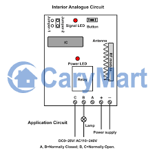 single channel rf remote control receiver circuit for electronics