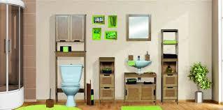 free standing bath linen tower cabinet natural oak mahe