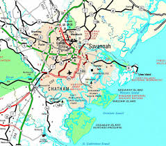 Map Of Savannah Ga County Of Chatham Georgiainfo