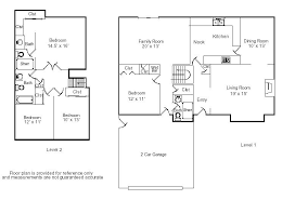 Floor Plans With Measurements Simple House Blueprints With Measurements And