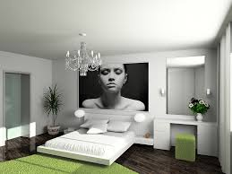 Gray Green Bedroom - bold black and white bedrooms with bright pops of color