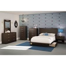 south shore back bay contemporary queen platform storage bed frame