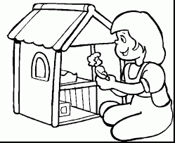 wonderful doll house printable coloring pages with dltk coloring