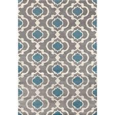 moroccan trellis contemporary gray blue 9 ft x 12 ft indoor area