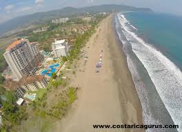 an aerial tour of playa jaco costa rica from the air