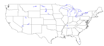 Image Of United States Map by Daydreaming Blog Archive United States Map Including Lakes And