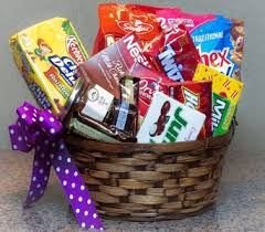 junk food basket gift and food baskets delivery des moines ia doherty s flowers