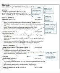 Columbia Resume Parse Resume Example Resume Example And Free Resume Maker