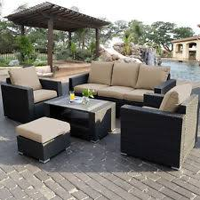 Outdoor Patio Furniture Sectional Palermo 3 Pc Outdoor Patio Furniture Sectional Set Cushions Ebay