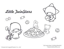 sanrio coloring pages little twin star coloring pages 3 coloring pages cute