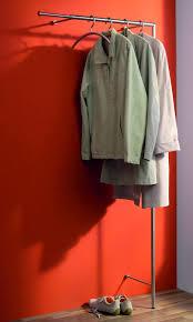 garderobenstange edelstahl wandgarderobe mit teleskop garderobenstange aus geschliffenem